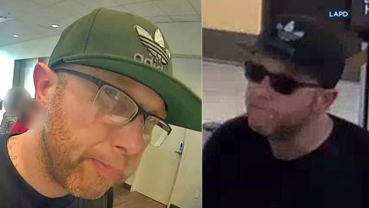 "Police say Patrick Robert Day, 42, is the ""Ginger Bandit"" who robbed three San Fernando Valley banks on March 5, 2018."