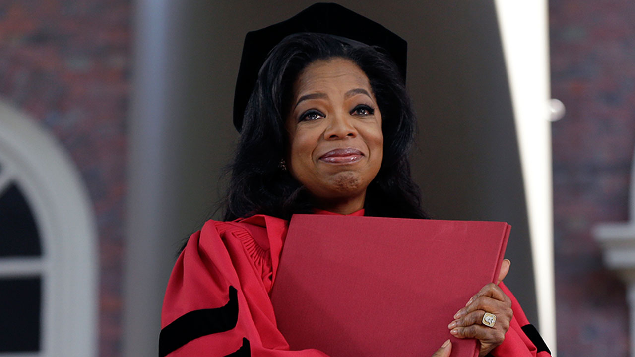 Oprah Winfrey spoke at Harvard's 2013 commencement ceremonies.