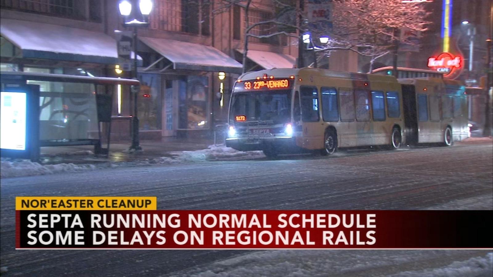 Septa Operating On Regular Schedule Thursday Some Bus