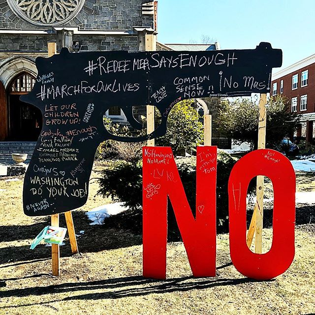 <div class='meta'><div class='origin-logo' data-origin='none'></div><span class='caption-text' data-credit='stacygkinnj/Instagram'>See the signs demonstrators are carrying at March for Our Lives events around the country.</span></div>