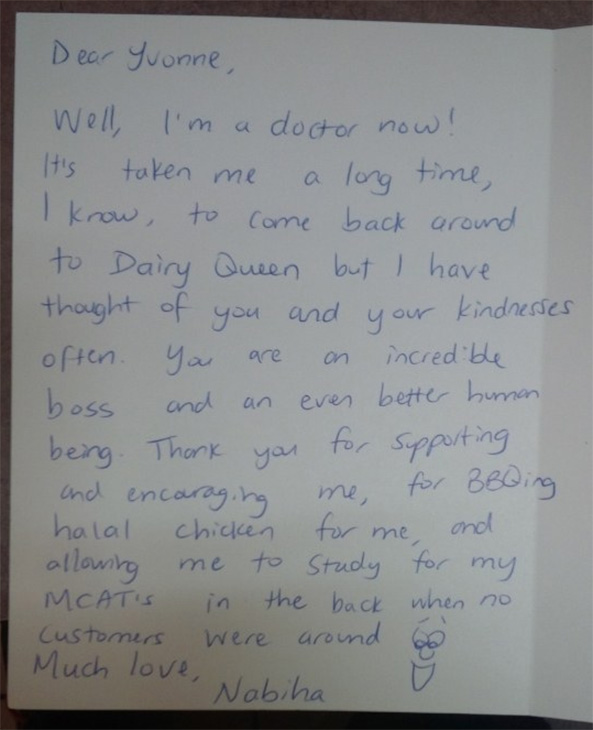 Ex Dairy Queen Employee Turned Doctor Thanks Former Boss In