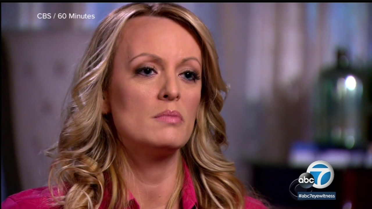 "Adult film star Stormy Daniels talks about an alleged sexual encounter with Donald Trump in 2006, telling her story in a an interview with ""60 Minutes"" on Sunday, March 26, 2018."