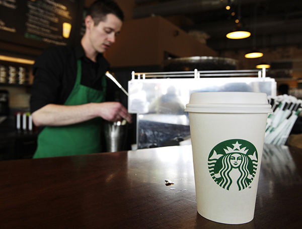 """<div class=""""meta image-caption""""><div class=""""origin-logo origin-image """"><span></span></div><span class=""""caption-text"""">Starbucks is offering free samples of its Anniversary Blend until noon. (AP)</span></div>"""
