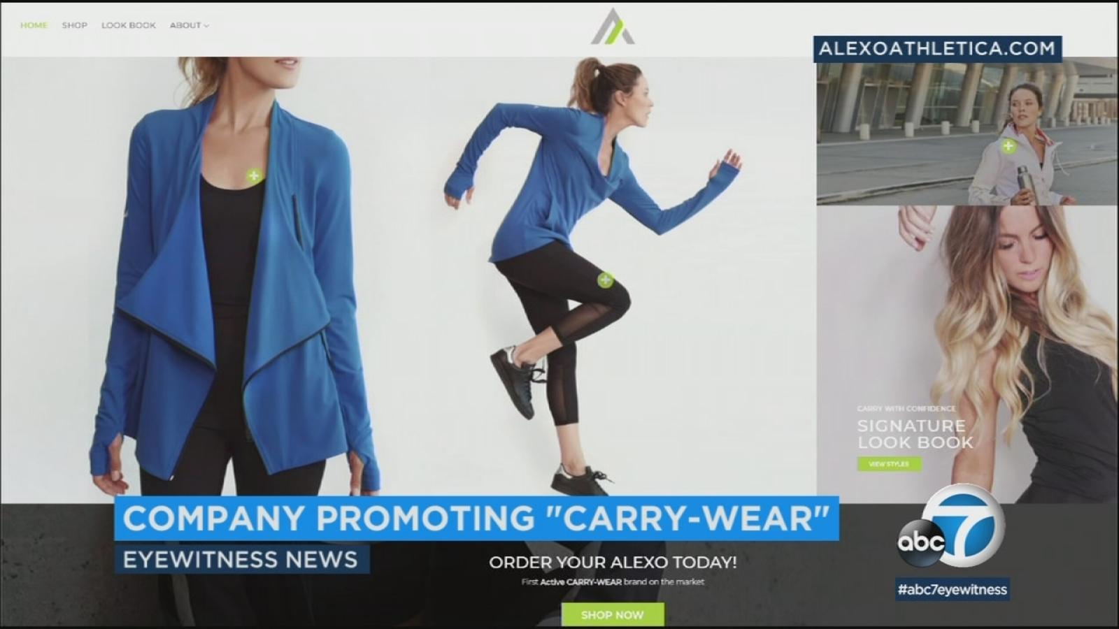 41bbeda68ab18c Sportswear company Alexo Athletica makes yoga pants with gun pockets    abc7.com