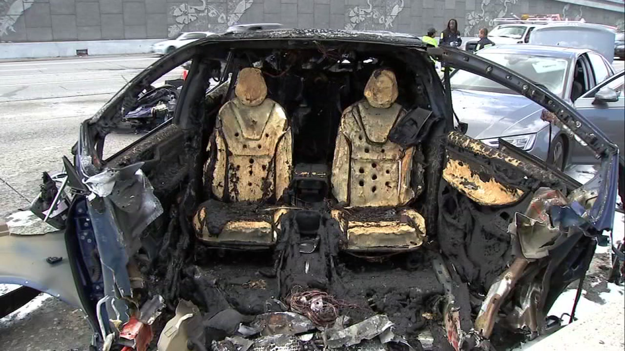 Fire chief: Tesla crash shows electric car fires could strain ...