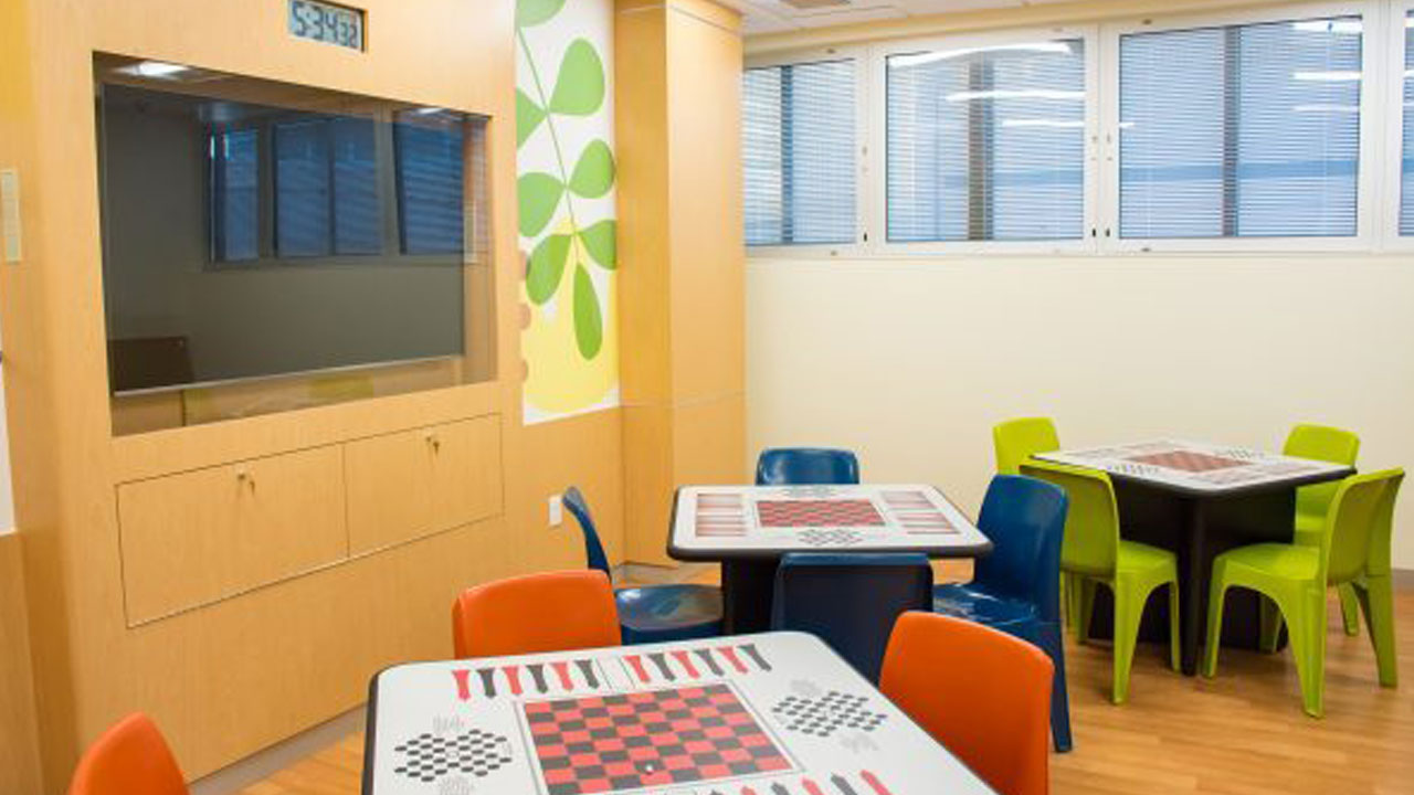 An image shows a part of the new Mental Health Inpatient Center at Children's Hospital Orange County.