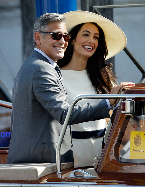 "<div class=""meta image-caption""><div class=""origin-logo origin-image ""><span></span></div><span class=""caption-text"">George Clooney and Amal Alamuddin leave the Cipriani hotel for their civil marriage ceremony at the Cavalli Palace in Venice, Italy, Monday, Sept. 29, 2014. (AP Photo/Andrew Medichini)</span></div>"