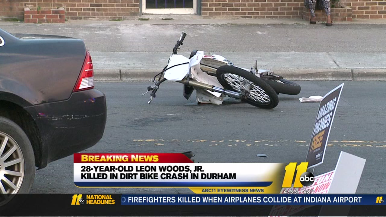 Durham dirt biker killed in crash with another vehicle