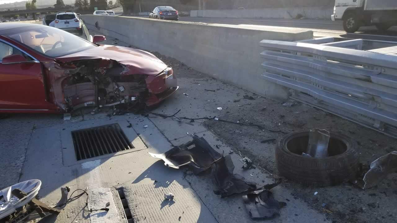 ONLY ON ABC7NEWS COM: Tesla crash in September showed