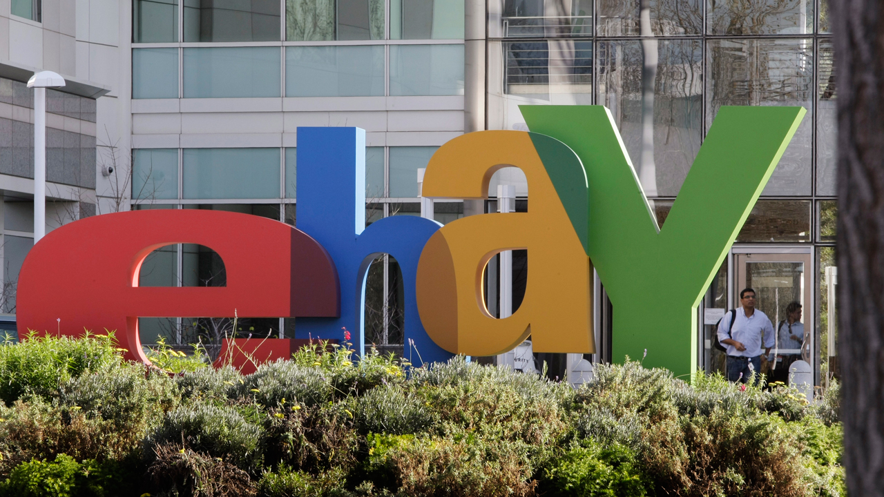 An eBay sign decorates the front of the company's headquarters in San Jose, Calif., Wednesday, Oct. 17, 2012.