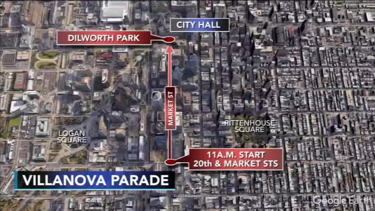 Villanova Parade In Philadelphia Route Street Closures Parking And M Transit Info