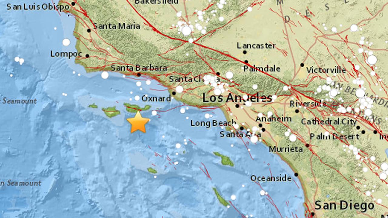 Usgs Earthquake Map San Francisco.Big Earthquake Hits Near Channel Islands Beach In Socal Abc7news Com