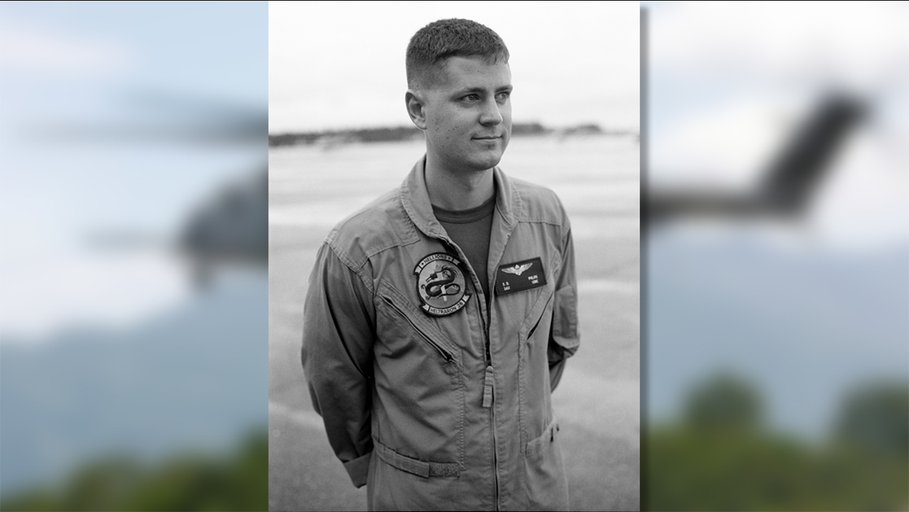 First Lt. Samuel Phillips is seen on the flight deck in Pensacola, Fla. Phillips was one of four Marines who lost their lives in a helicopter crash Tuesday in California.