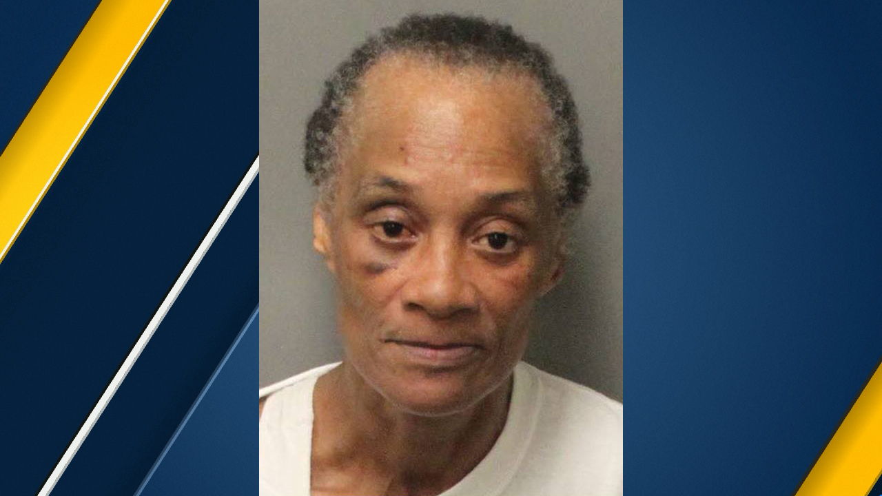 Riverside resident Teresa Demar Hunter, 61, is seen in a booking photo after her boyfriend was found dead on Saturday, April 7, 2018.