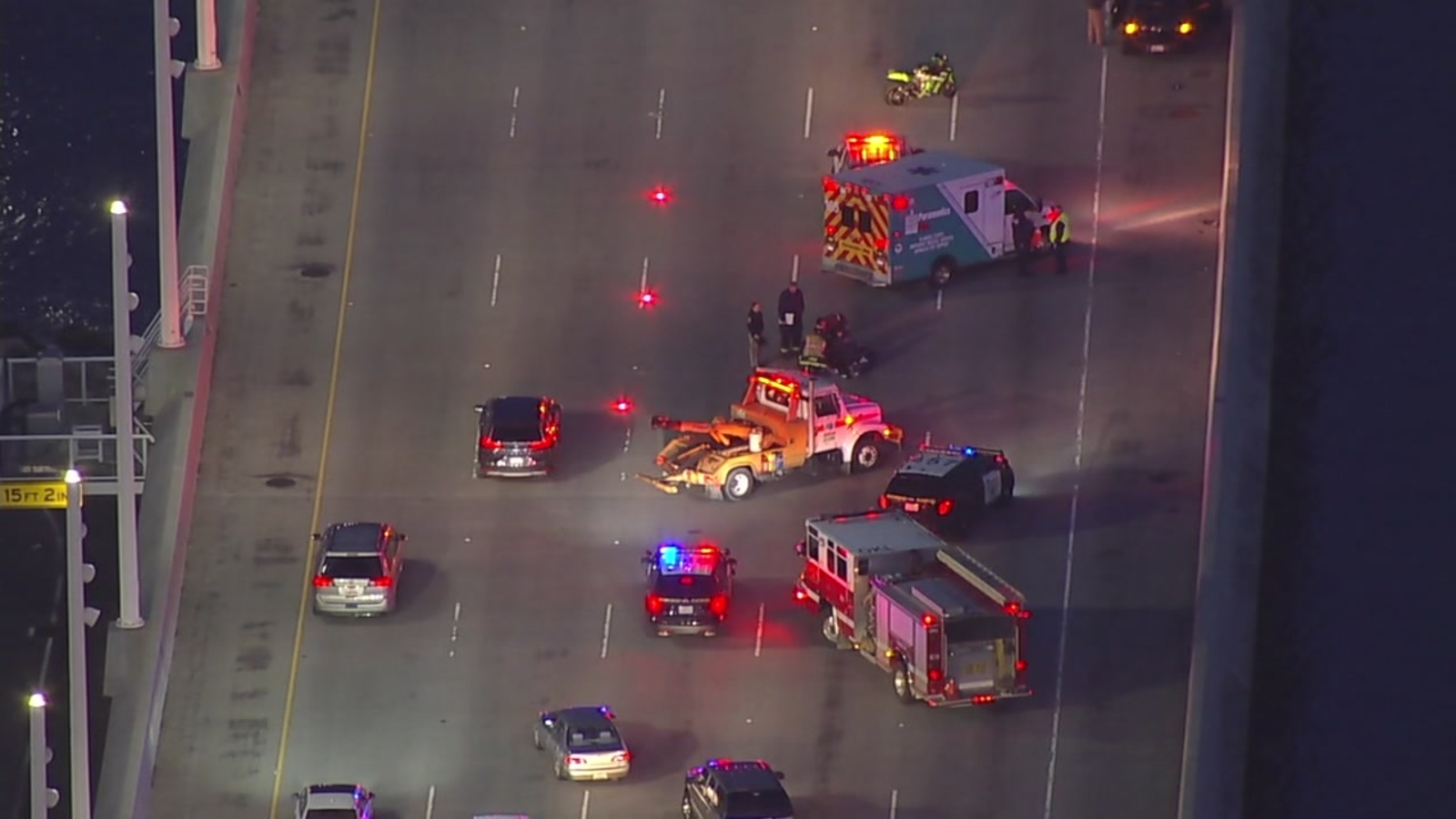 Motorcycle accident cleared from WB lanes of Bay Bridge