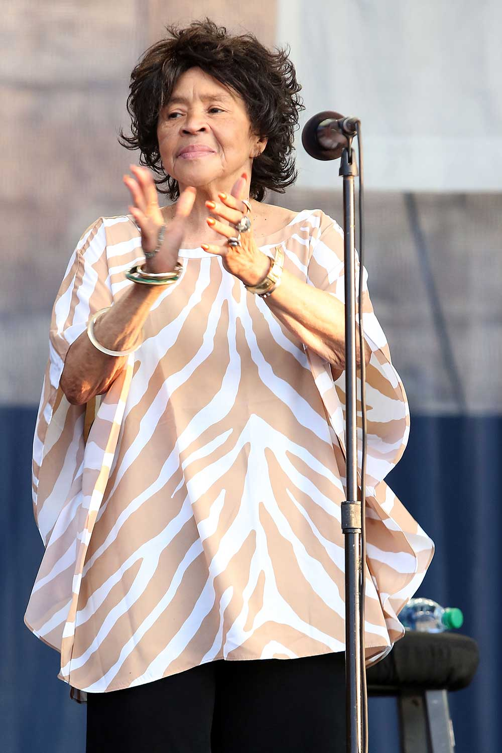 <div class='meta'><div class='origin-logo' data-origin='none'></div><span class='caption-text' data-credit='Taylor Hill/WireImage via Getty'>Yvonne Staples of the family gospel group Staples Singers died at age 80.</span></div>
