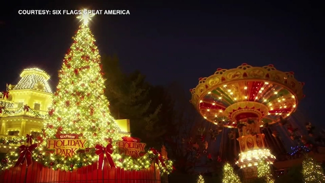 six flags great america in gurnee to hold holiday festival stay open through end of year abc7chicagocom