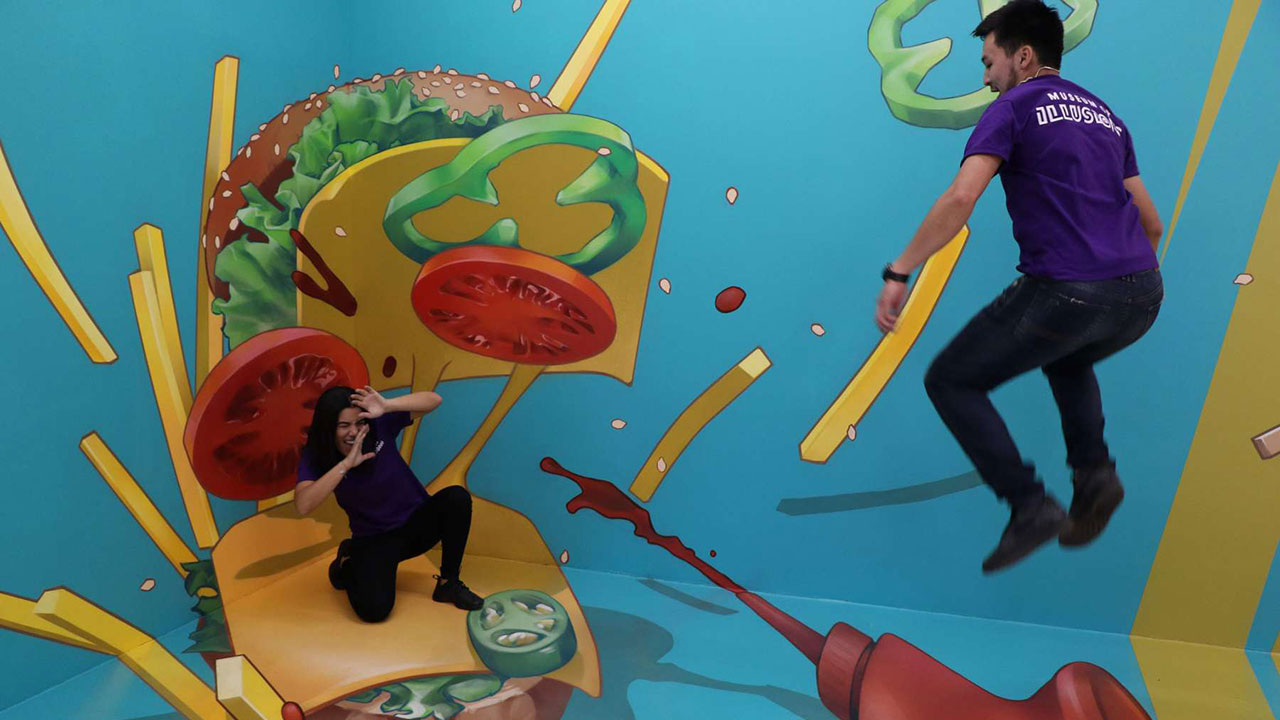 The Museum of Illusions in Hollywood has backdrops perfect for Instagram users.