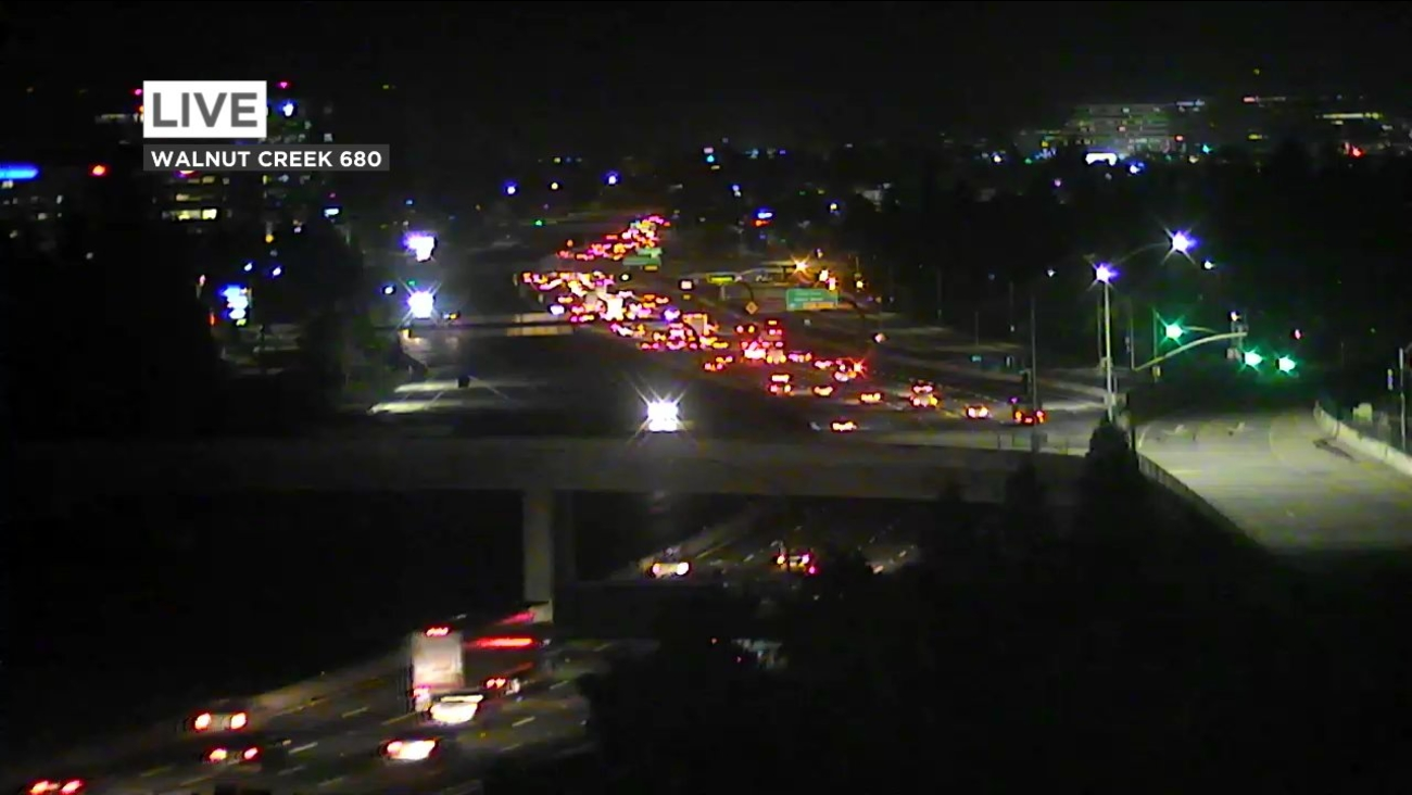 Highway 680 traffic in Walnut Creek, California on Thursday, April 12, 2018.