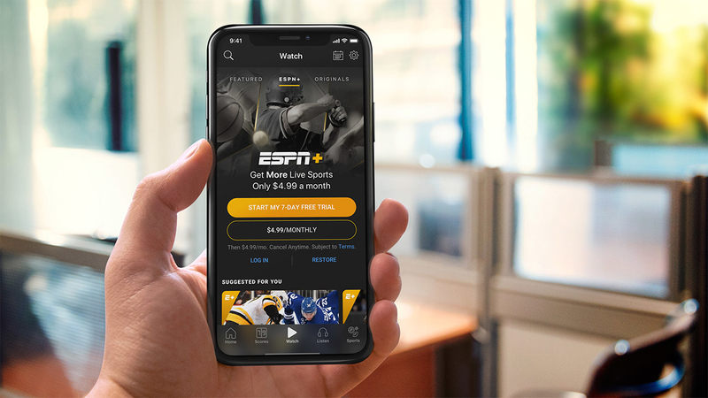 ESPN+, the new ESPN streaming service, is here