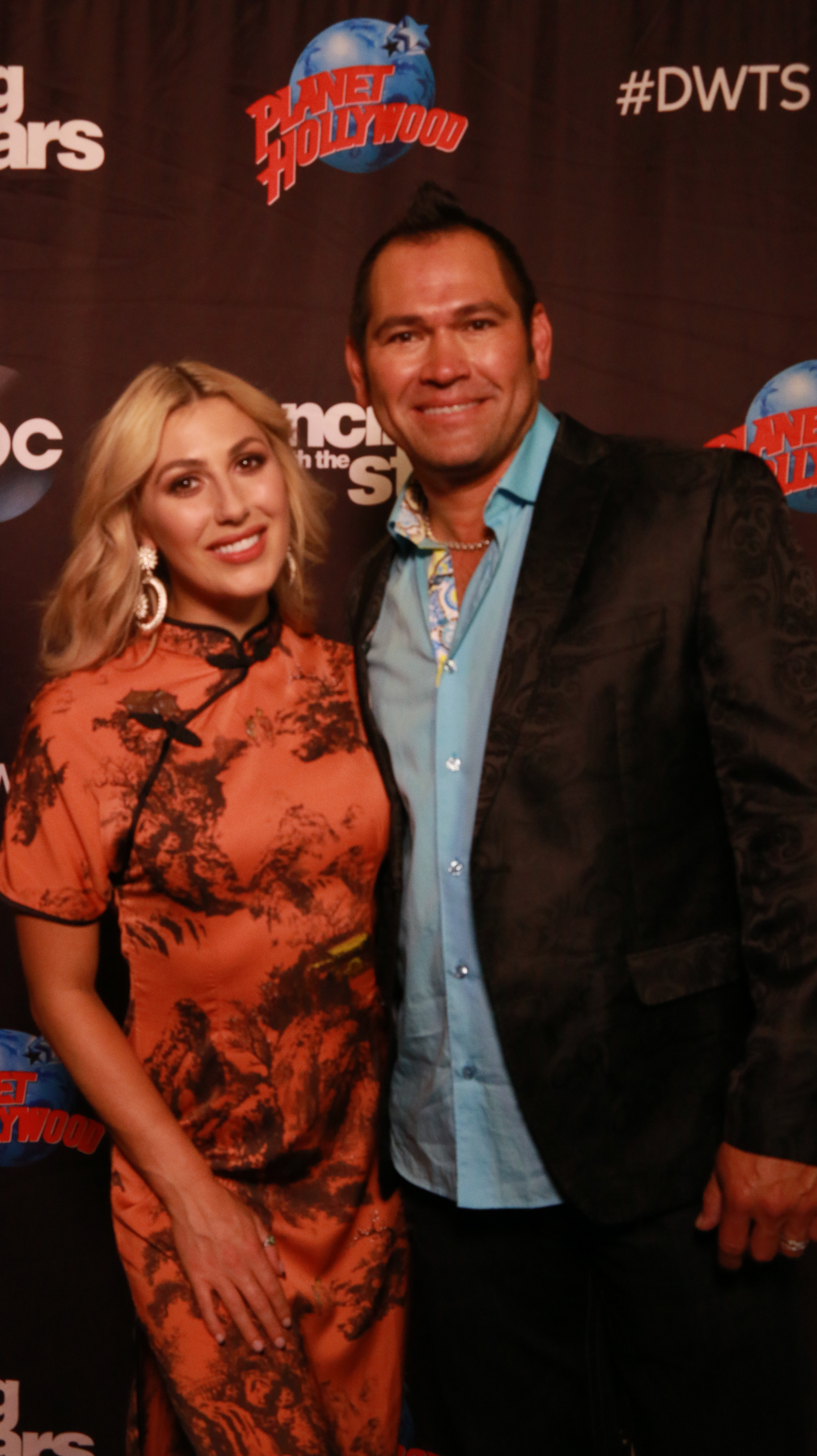 <div class='meta'><div class='origin-logo' data-origin='none'></div><span class='caption-text' data-credit='Heather Harkins/WABC'>Johnny Damon with Emma Slater on the red carpet of the ''Dancing with the Stars'' cast announcement on ''Good Morning America.''</span></div>