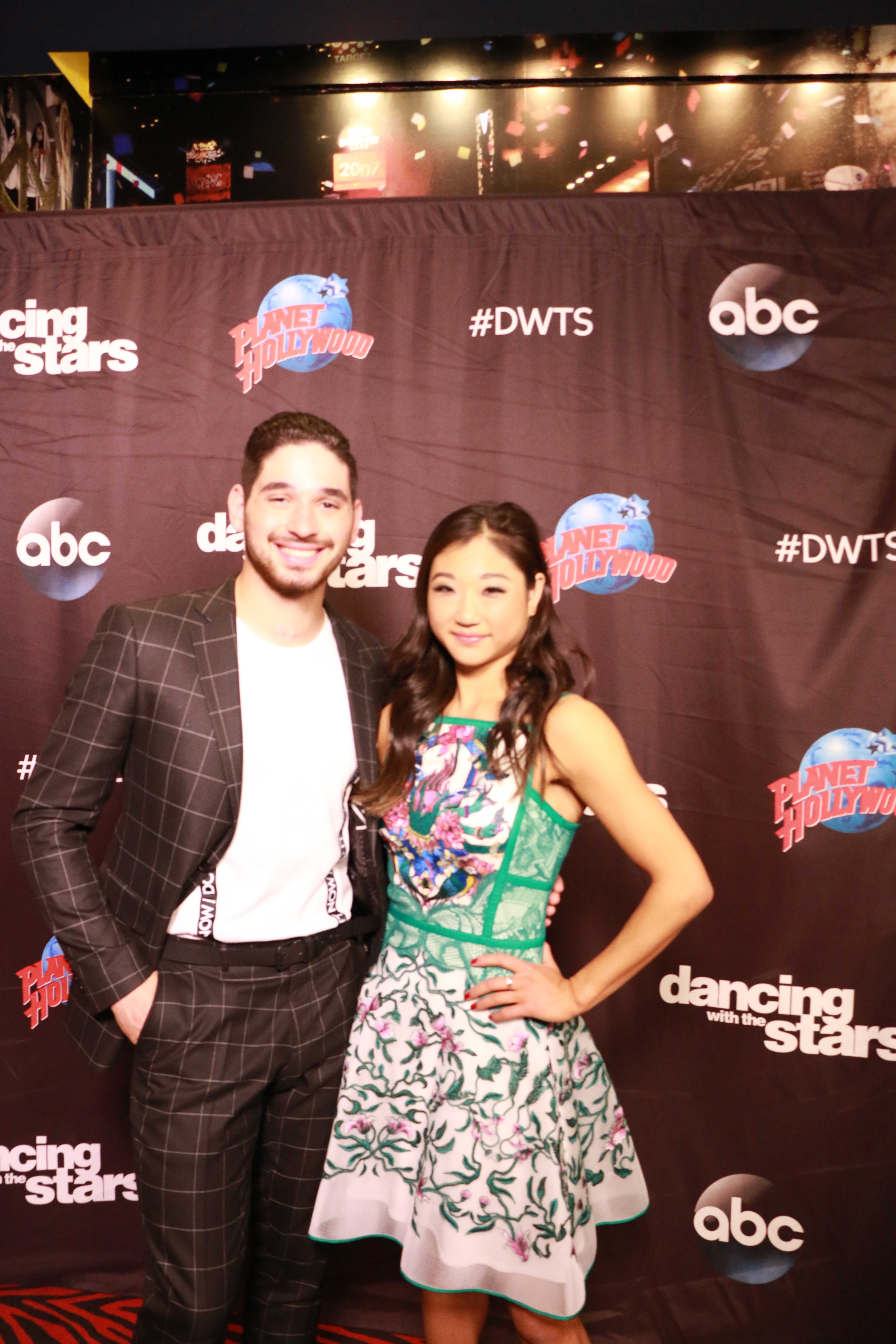 <div class='meta'><div class='origin-logo' data-origin='none'></div><span class='caption-text' data-credit='Heather Harkins/WABC'>Mirai Nagasu with Alan Bersten on the red carpet of the ''Dancing with the Stars'' cast announcement on ''Good Morning America.''</span></div>