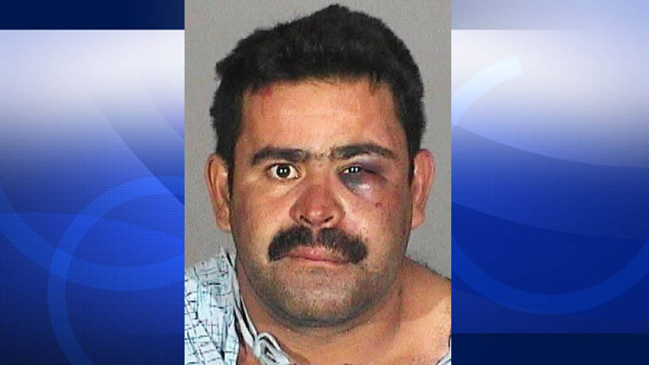Armando Murillo-Avila, 34, of Burbank is shown in a booking photo provided by the Alhambra Police Department.