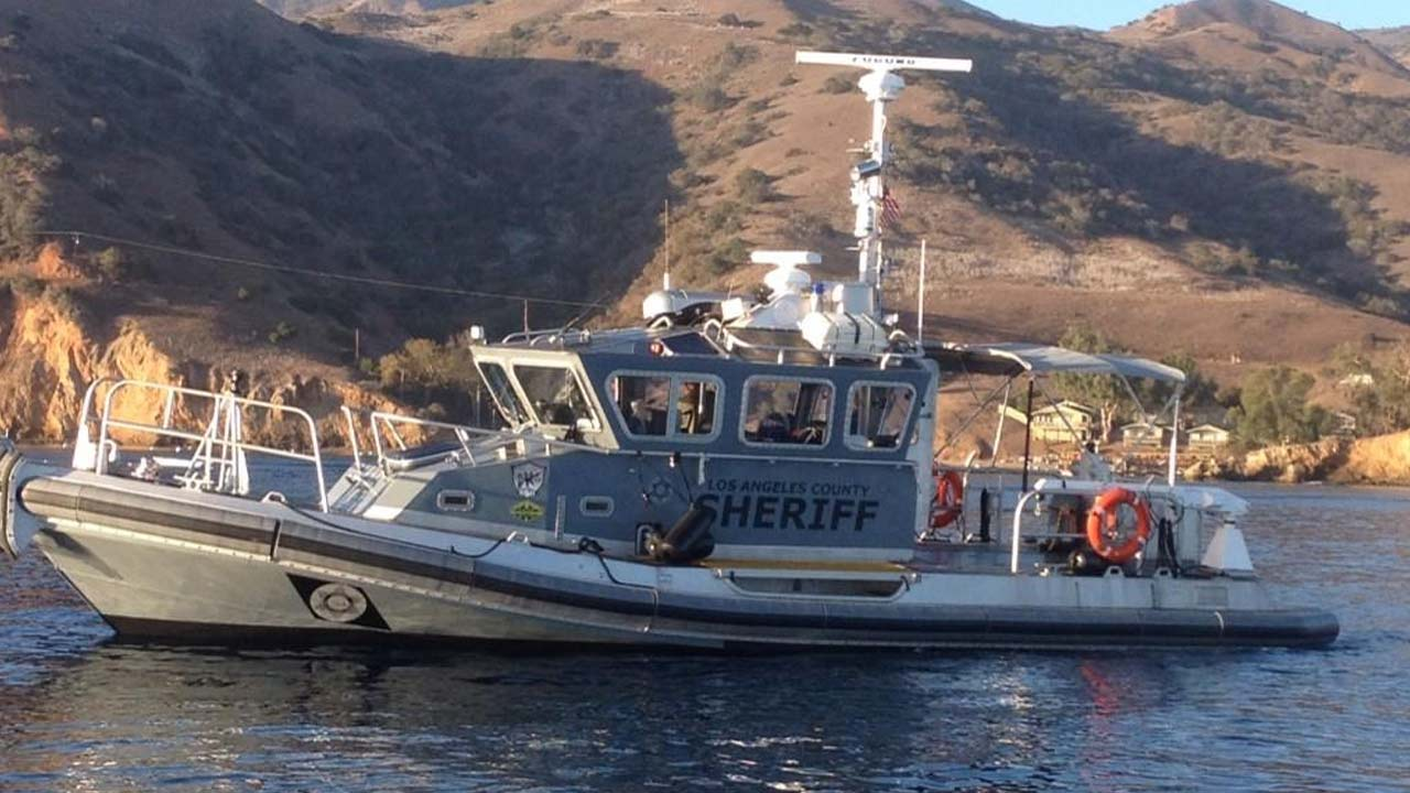 A Los Angeles County Sheriff's Department rescue boat is shown in this undated photo.