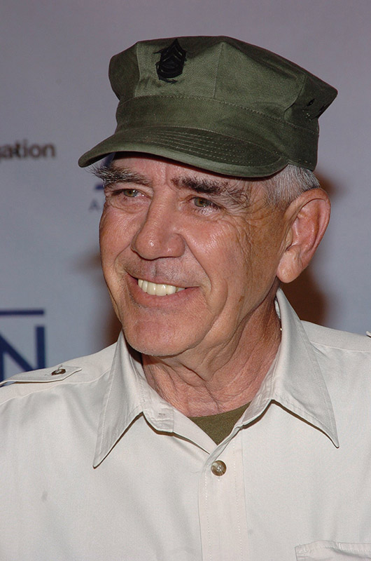 <div class='meta'><div class='origin-logo' data-origin='none'></div><span class='caption-text' data-credit='Lawrence Lucier/FilmMagic'>Actor R. Lee Ermey died on April 15, 2018, from complications of pneumonia.</span></div>