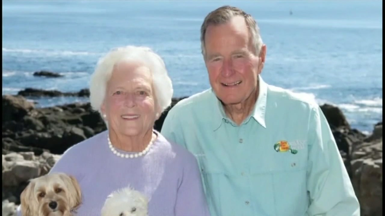 former first lady barbara bush at home in comfort care abc13 com