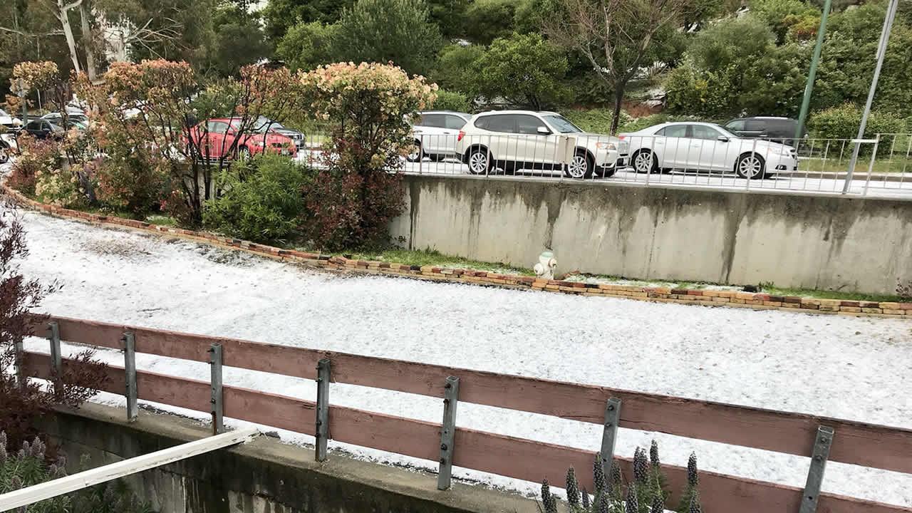 Winter Weather In Spring Brings Hail Thunderstorms To Bay Area Abc7news Com