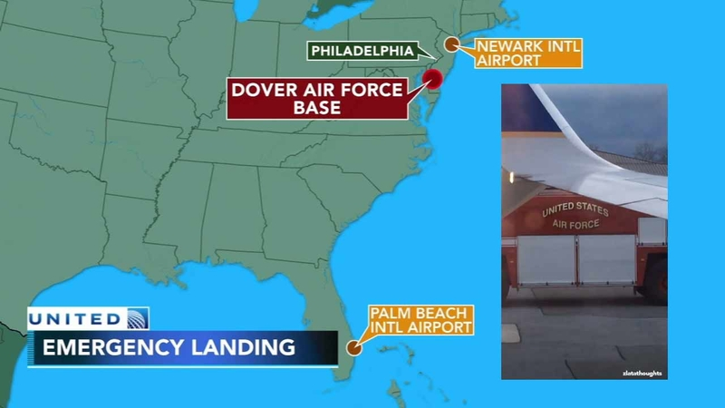United Airlines flight makes emergency landing at Dover Air Force Base