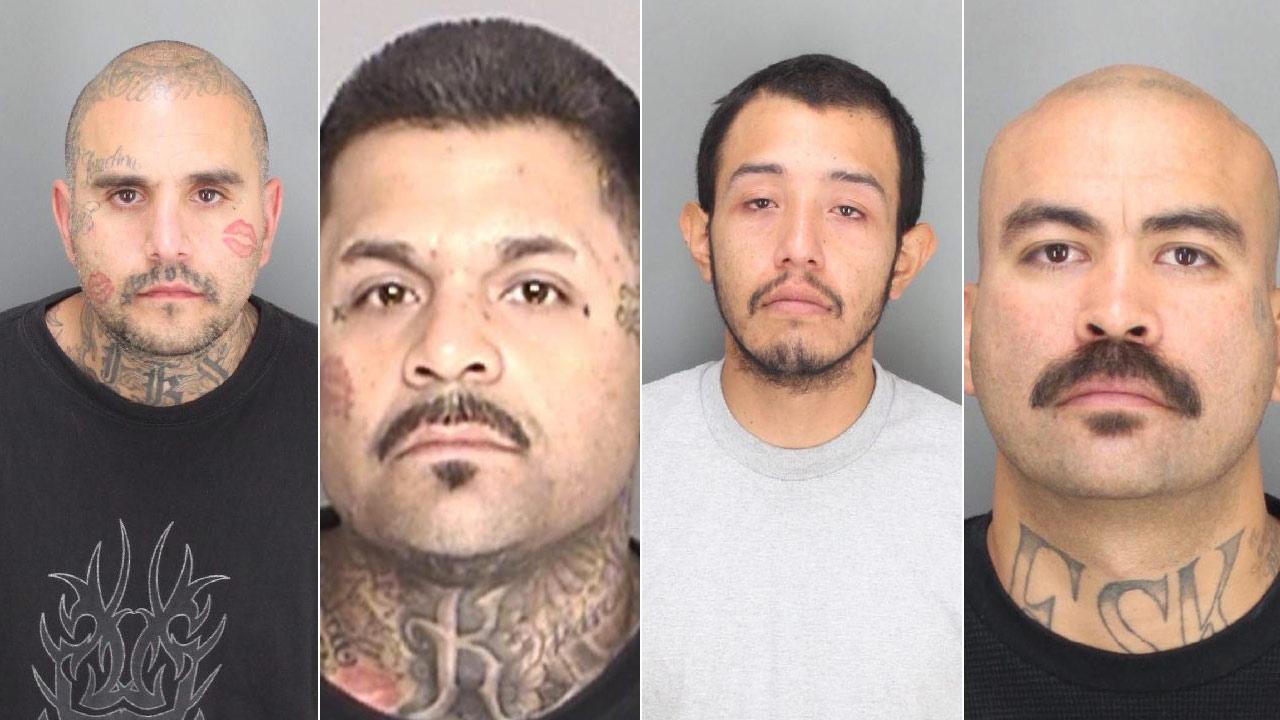 Left to right: Benjamin Ybarra; Jesse Martin Enriquez; Franco Eric Aguiniga; Ruben Jose Regalado Jr.