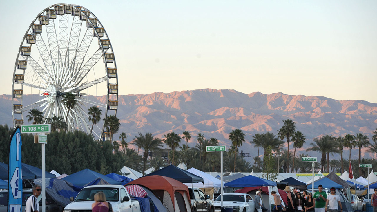 A view of the campground at the Empire Polo Field during the 2nd weekend of the 2013 Coachella Music Festival on Thursday, April 18, 2013 in Indio, Calif.