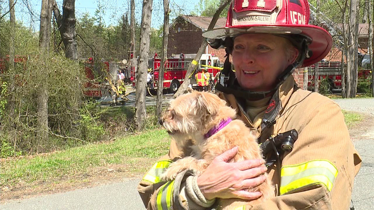 Captain Kelly Jernigan saved Cinnamon just 24 hours after losing her dog to cancer