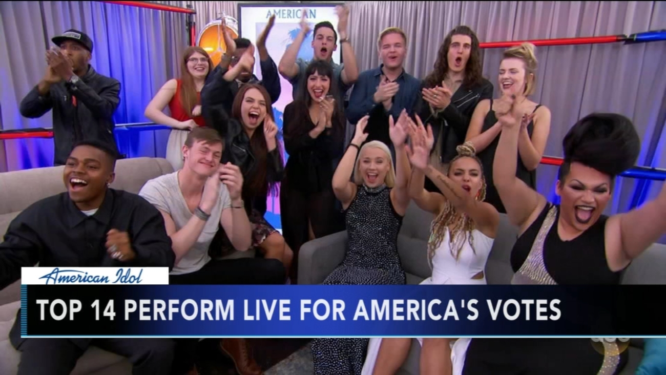 idol top 14 performing live for america's vote sunday | 6abc