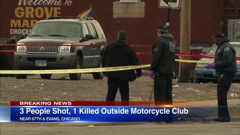 3 shot, 1 fatally, outside motorcycle club on South Side
