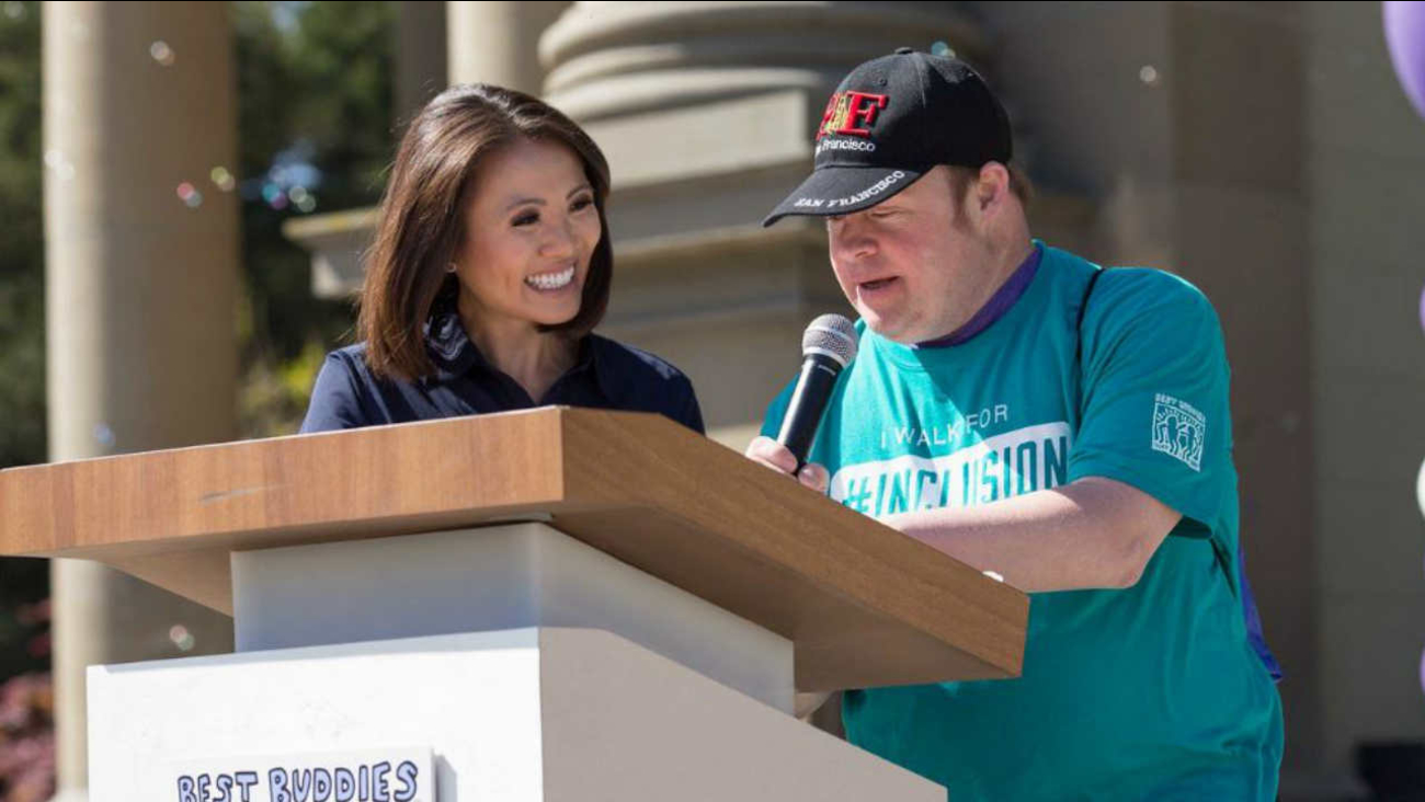Dion Lim is seen at the Best Buddies Friendship Walk in San Francisco on Saturday, April 21, 2018.
