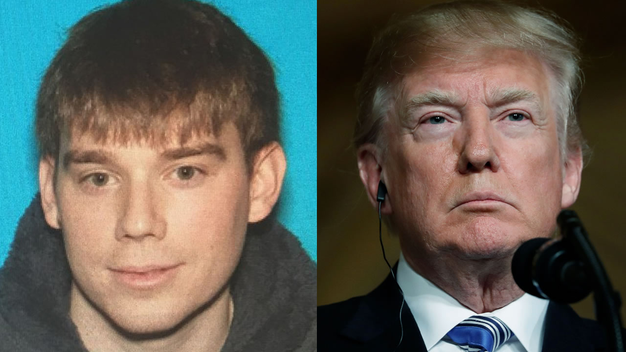 Travis Reinking is pictured next to President Donald Trump.