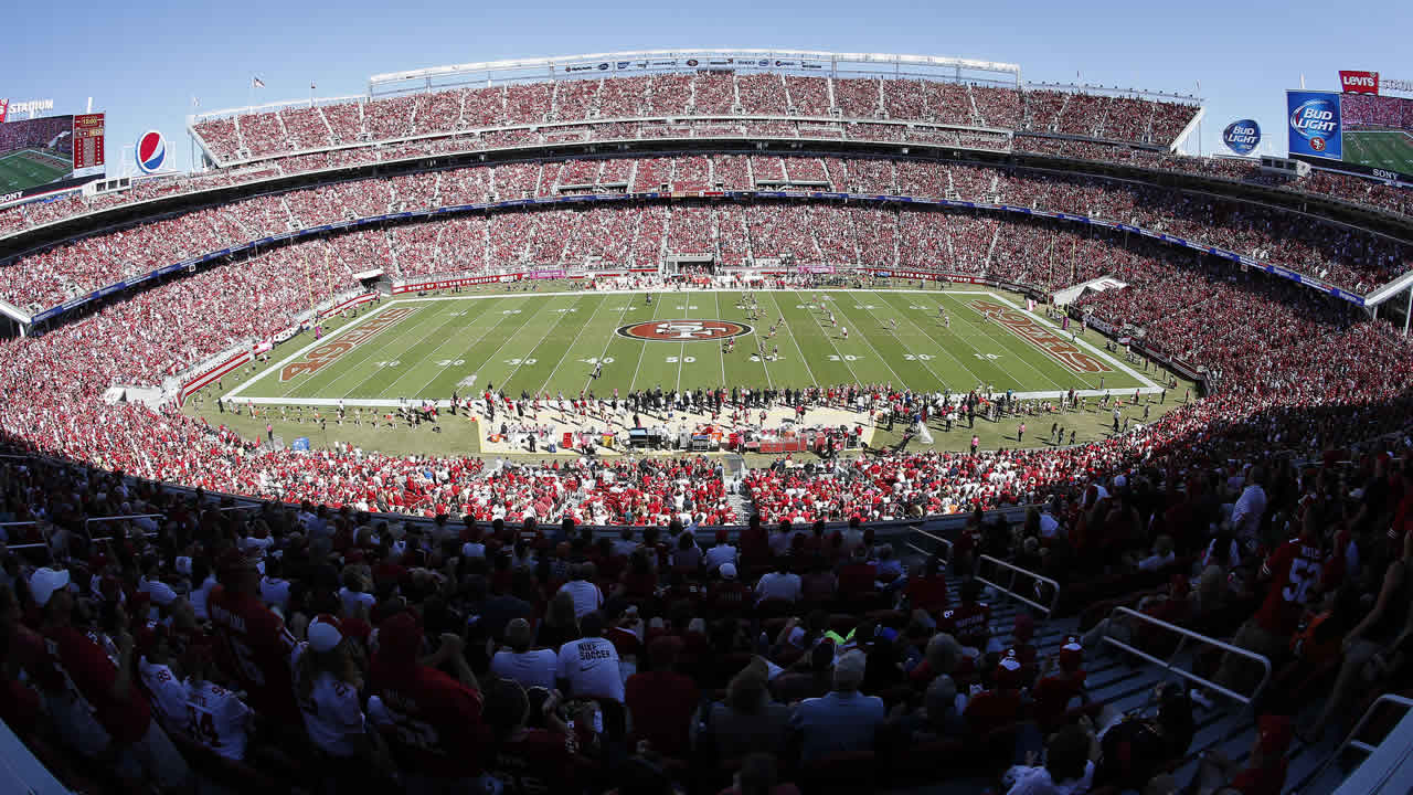 A general view of Levi's Stadium is shown during an NFL football game between the 49ers and the Chiefs in Santa Clara, Calif., Sunday, Oct. 5, 2014. (AP Photo/Tony Avelar)