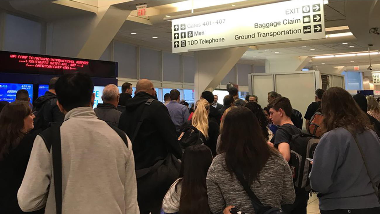 All gates at Ontario International Airport were reopened Monday morning after three terminals were temporarily evacuated while a bomb squad investigated a suspicious device.