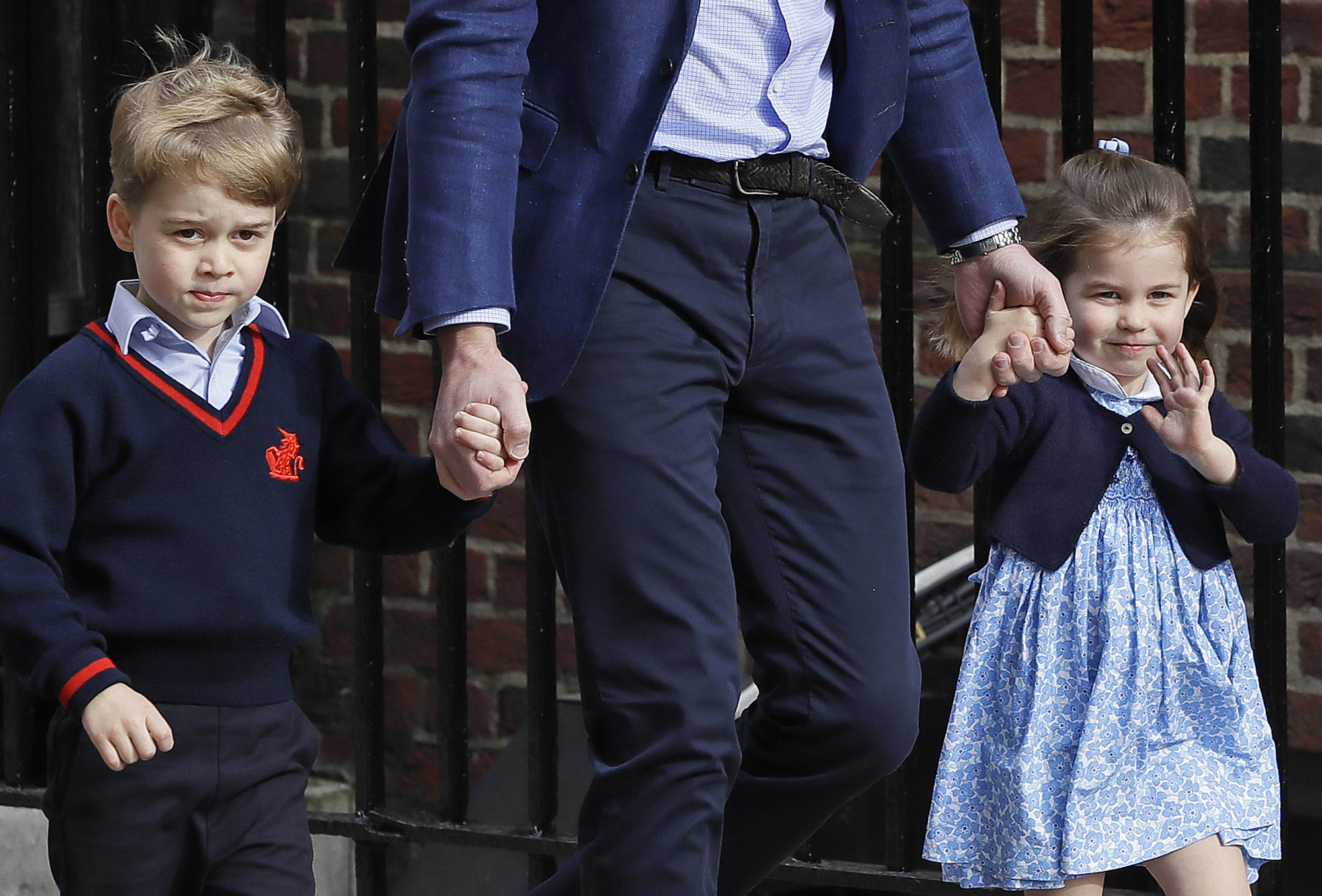 "<div class=""meta image-caption""><div class=""origin-logo origin-image none""><span>none</span></div><span class=""caption-text"">Britain's Prince William arrives with Prince George and Princess Charlotte back to the Lindo wing at St Mary's Hospital in London London, Monday, April 23, 2018. (Kirsty Wigglesworth/AP Photo)</span></div>"
