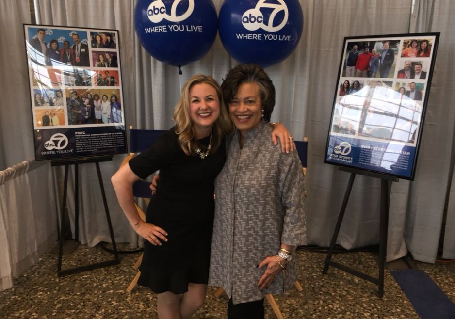 "<div class=""meta image-caption""><div class=""origin-logo origin-image none""><span>none</span></div><span class=""caption-text"">ABC7's Amy Hollyfield and Benita Mays from Bank of the West are seen at the Professional BusinessWomen of California Conference in San Francisco on Tuesday, April 24, 2017. (KGO-TV)</span></div>"
