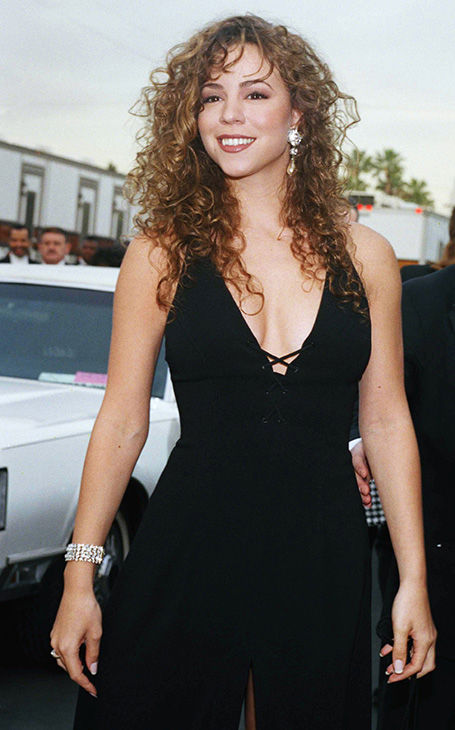 <div class='meta'><div class='origin-logo' data-origin='none'></div><span class='caption-text' data-credit='AP'>Mariah Carey arrives at the 20th annual American Music Awards show in Los Angeles  Monday, Jan. 25, 1993.</span></div>