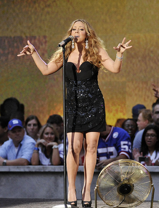 <div class='meta'><div class='origin-logo' data-origin='none'></div><span class='caption-text' data-credit='AP'>Mariah Carey performs during the NFL Kickoff 2012 on Wednesday, Sept. 5, 2012 in New York.</span></div>