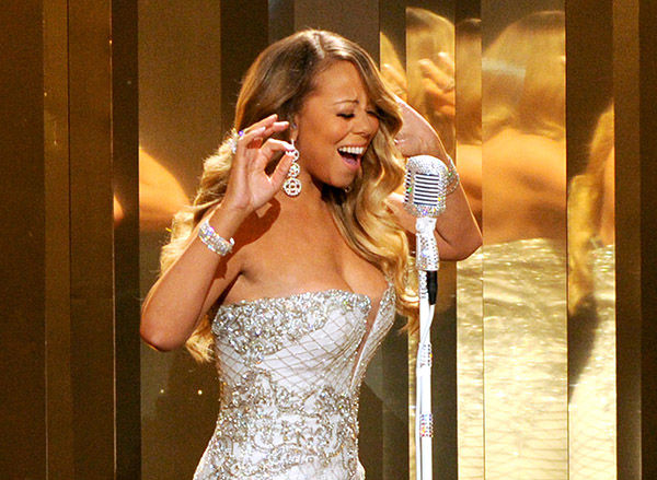 <div class='meta'><div class='origin-logo' data-origin='none'></div><span class='caption-text' data-credit='AP'>Mariah Carey performs onstage at the BET Awards at the Nokia Theatre on Sunday, June 30, 2013, in Los Angeles.</span></div>
