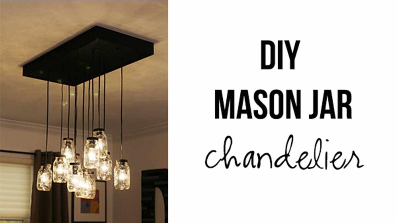 Diy Mason Jar Chandelier Abc13 Houston