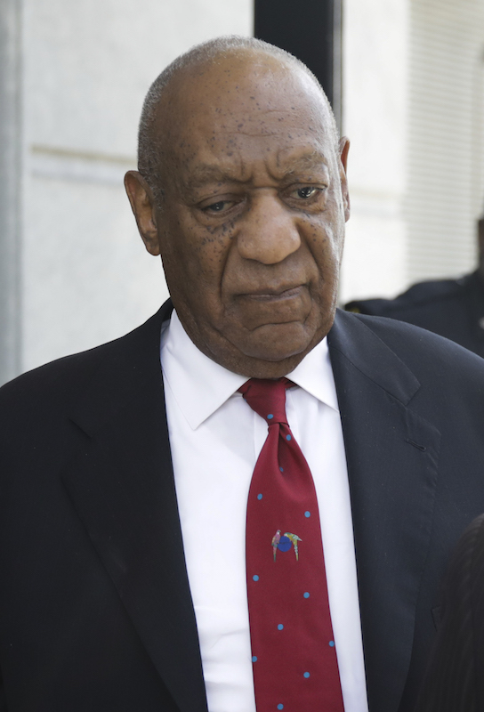 <div class='meta'><div class='origin-logo' data-origin='none'></div><span class='caption-text' data-credit='Dominick Reuter/AFP/Getty Images'>Bill Cosby comes out of the Courthouse after the verdict in the retrial of his sexual assault case at the Montgomery County Courthouse in Norristown, Pennsylvania</span></div>