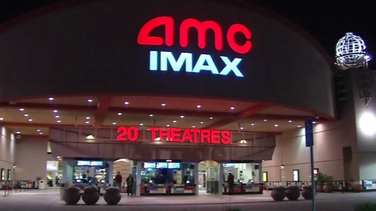 An AMC movie theater is seen in an undated file image.