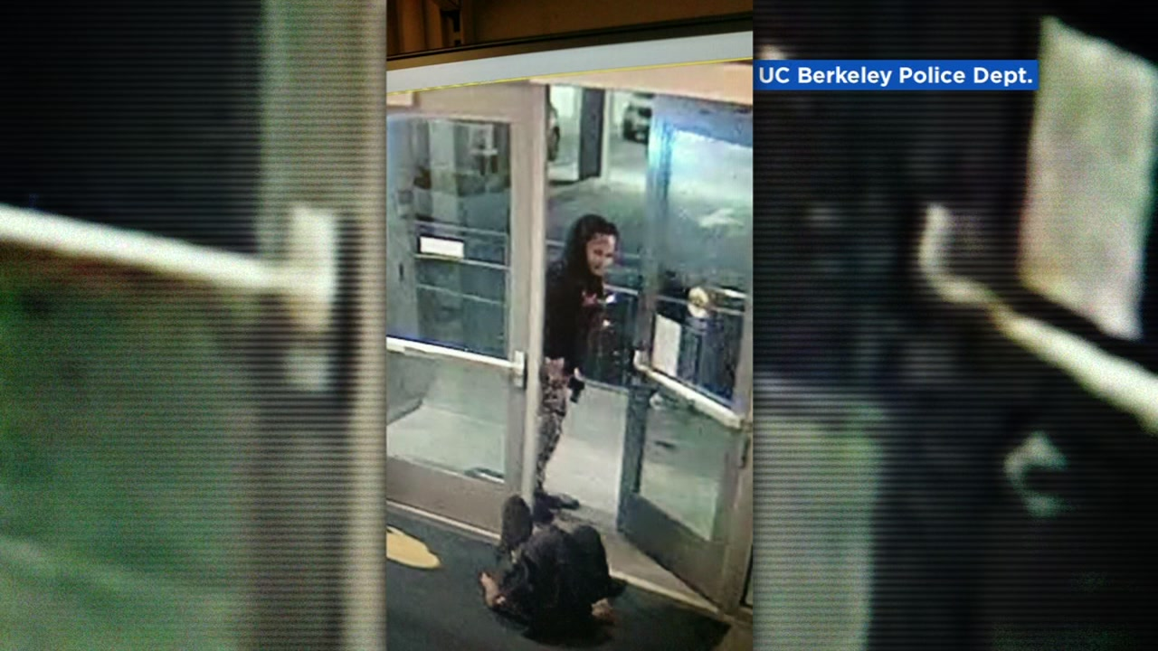 An attempted robbery suspect is seen in a surveillance camera image in Berkeley, Calif. on Saturday, April 28, 2018.